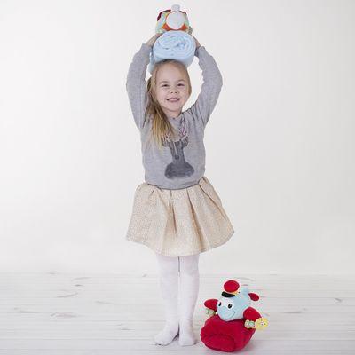 """Детские колготки с узором """"Клевер"""", 4-5 л, 104-110 см, 84% полиамид, 16% эластан"""