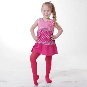 Детские колготки, 2-3 г, 86-92 см, 80% хл.15% п/э, 5% спандекс, цвет бордовый