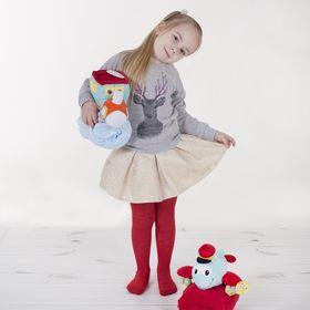 Детские колготки, 4-5 л, 104-110 см, 80% хл.15% п/э, 5% спандекс, цвет красный