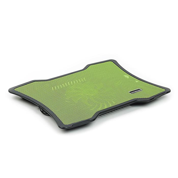 Охлаждающая подставка для ноутбука, 1 кулер, зеленая