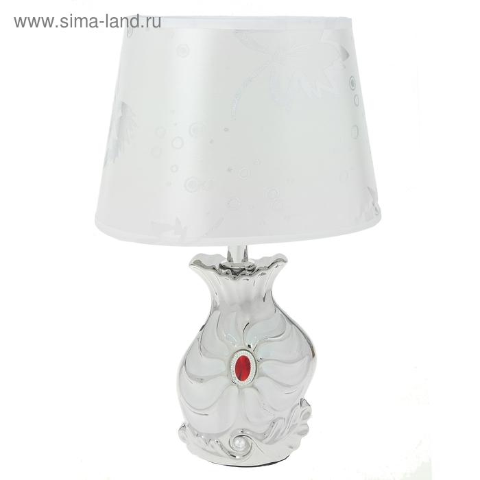 """Лампа настольная """"Танец листьев"""", белая"""