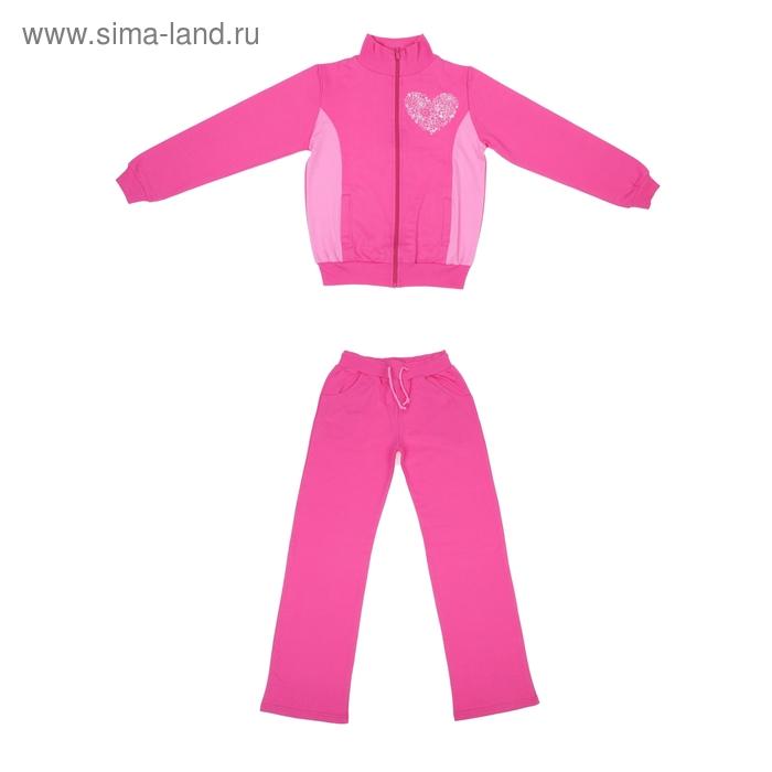 Костюм для девочки (толстовка+брюки), рост 104-110 см, цвет МИКС (арт. М-205)