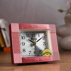 "Alarm clock ""Brick"", the hands glow in the dark, 12х9 cm"