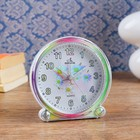 "Alarm clock ""Rainbow flowers"", the arrows glow in the dark, d=10.5 cm mix"