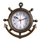 Wall clock, series: Sea Anchor, brown, 23х24 cm mix