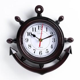 Wall clock, series: Sea Anchor, brown, 23x24 cm mix