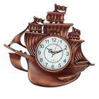 """Часы настенные """"Корабль"""", коричневая патина, микс"""
