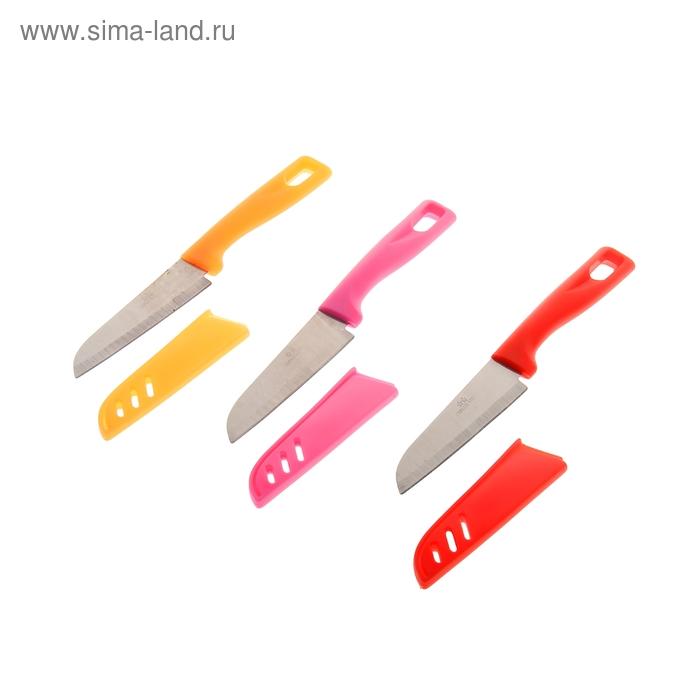 Нож 10 см, чехол, МИКС цвета