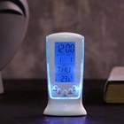 Часы-будильник LuazON LB-02 «Обелиск», дата, температура, подсветка