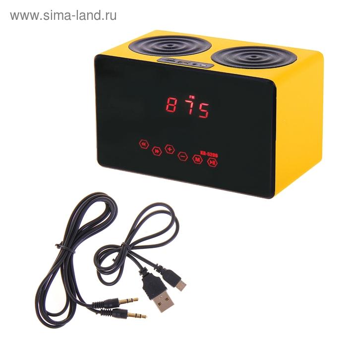 Портативная колонка MusicBOX, USB/MicroSD/FM/AUX сенсор, пульт ДУ, АКБ 3.7V, МИКС