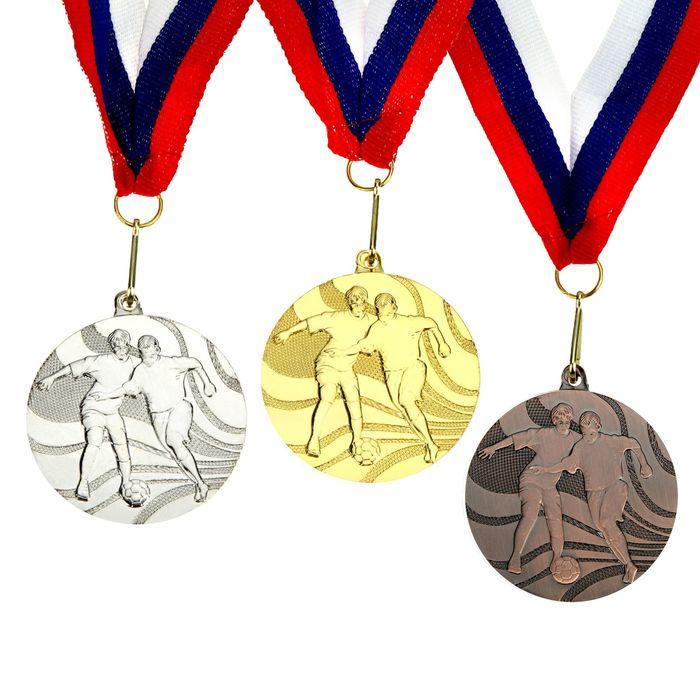 """Медаль тематическая """"Футбол"""" золото"""