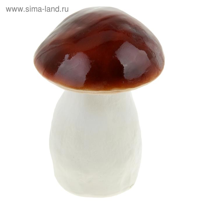 """Садовая фигура """"Белый гриб"""" средний, светлая шляпка"""