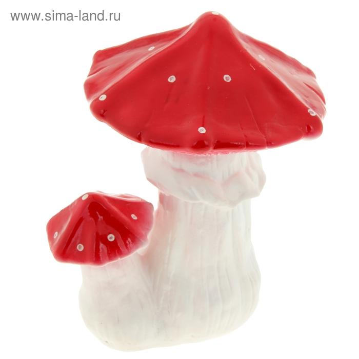 """Садовая фигура """"Пара мухоморов"""" средняя, острые шляпки"""