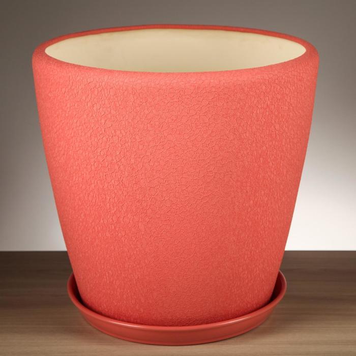 """Горшок для цветов """"Грация"""" шелк розовая дымка 20,0 л - фото 1577033"""