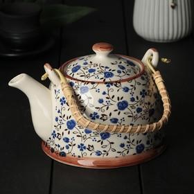 Чайник заварочный «Виньетки», 600 мл, цвет синий