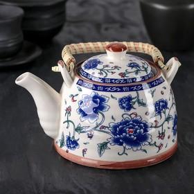 Чайник заварочный «Цветение роз», 600 мл, с металлическим ситом