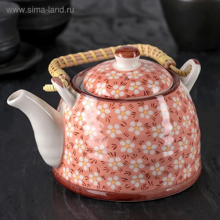"""Чайник заварочный 600 мл """"Весеннее цветение"""""""
