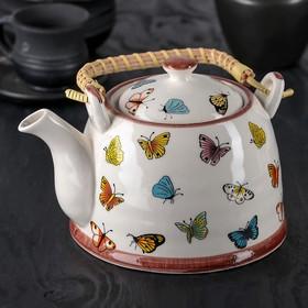Чайник заварочный «Бабочки», 900 мл, с металлическим ситом