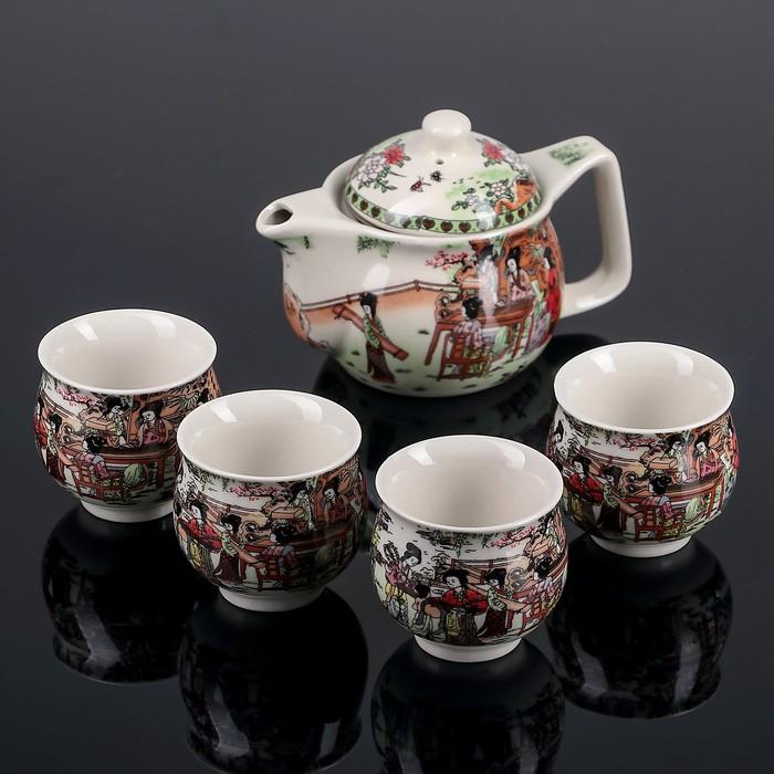 """Набор для чайной церемонии """"Восточное чаепитие"""", 5 предметов: чайник 400 мл, чашка 50 мл"""