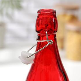 Бутылка для масла «Галерея», 1,11 л, 9×32 см, с бугельным замком, цвет МИКС