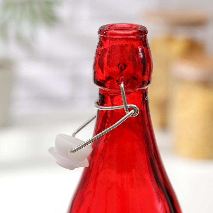 Бутылка для масла «Галерея», 1,2 л, 9×32 см, с бугельным замком, цвет МИКС - фото 170805795