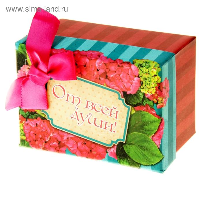 """Коробка подарочная """"Розовые цветы"""""""