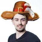 """Шляпа картон """"Мушкетер"""""""