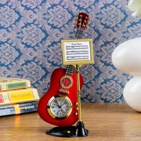 """Часы настольные """"Гитара с пюпитром"""", 19х8 см, микс"""