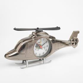 """Часы будильник """"Вертолёт"""" с фоторамкой, 27х11.5 см, микс"""