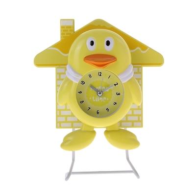 "Часы настольные ""Утенок"", желтые, 24х19.5 см"