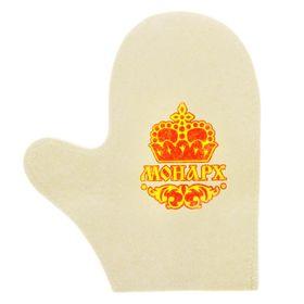 Рукавица для бани с рисунком 'Монарх' Ош