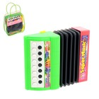 "Musical toy accordion ""Musical explosion"", 13 keys, battery powered MIX color"
