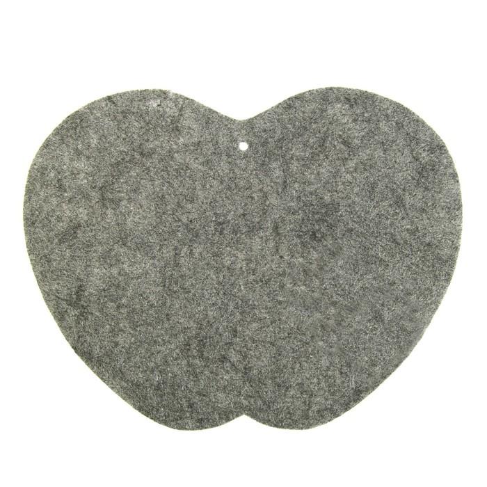 Коврик для бани и сауны «Доктор Баня», серый, 39 × 30 см