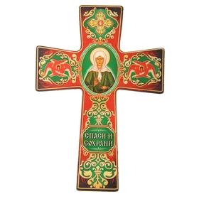 """Крест с подвесом """"Икона Матроны Московской"""""""