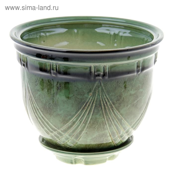 """Кашпо """"Мирида"""" зелёное 5 л"""