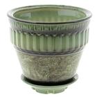Горшок декоративный Стиль №3 3л 19*20см 1сорт зеленый