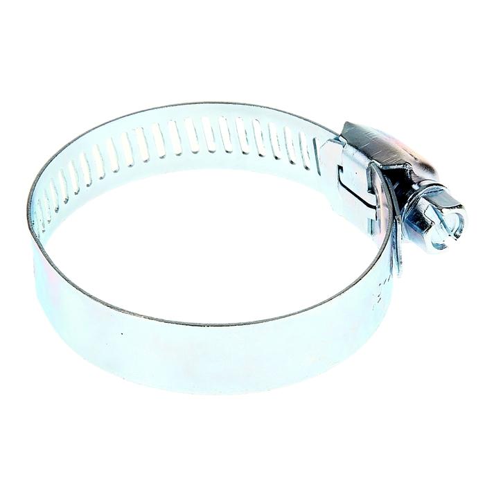 Хомут оцинкованный TUNDRA krep, сквозная просечка, диаметр 32-50 мм, ширина 12.7 мм