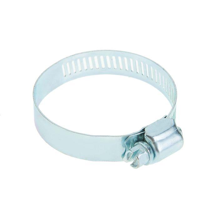 Хомут оцинкованный TUNDRA krep, сквозная просечка, диаметр 40-60 мм, ширина 12.7 мм