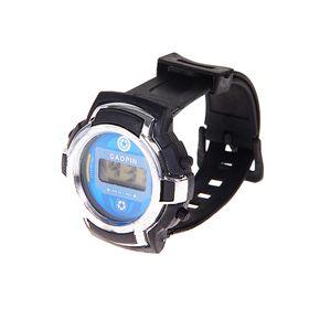 Часы наручные мужские электронные на силиконовом ремешке, с серыми вставками, цвета МИКС Ош
