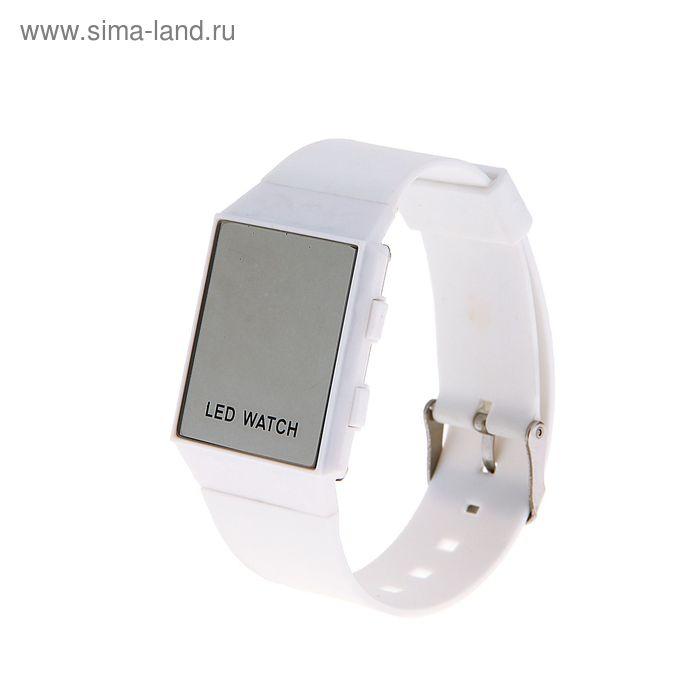 32c6025a Часы наручные женские электронные с силиконовым ремешком, циферблат  квадратный белый