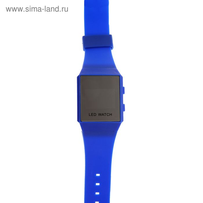 Часы наручные женские электронные влагозащищенные на силиконовом ремешке, циферблат прямоугольный