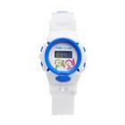 Часы наручные электронные «Счастье», детские, силиконовый ремешок, белый, циферблат микс