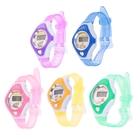 Часы наручные детские, электронные, с силиконовым ремешком прозрачный в клетку, цвета микс