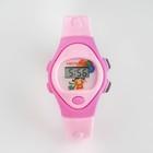 Часы наручные детские, электронные, с силиконовым ремешком, циферблат 2х цветный овалом микс