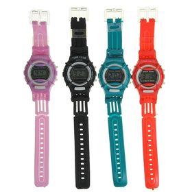 Часы наручные электронные Sports watches, детские, с силиконовым ремешком, микс