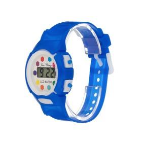 Часы наручные детские 'Непоседа', электронные, ремешок силикон,  l=20 см, микс Ош