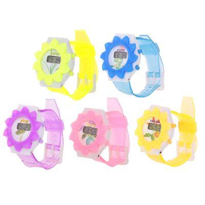 Часы наручные электронные «Солнышко», детские, с силиконовым ремешком, микс