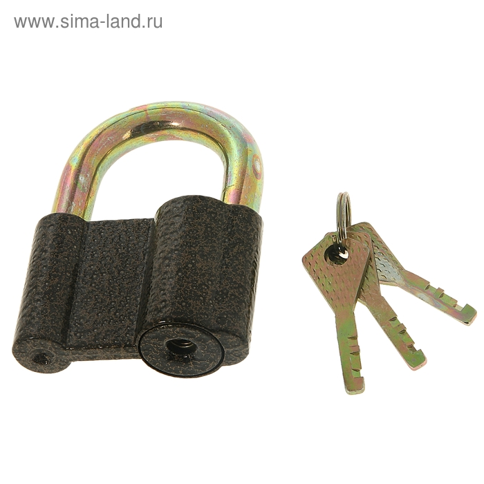 Замок навесной, тип 4, 62х86 мм, 3 ключа