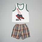 """Костюм для мальчика """"Бутсы"""": майка, шорты, на 3 года (рост 104 см), цвета МИКС"""