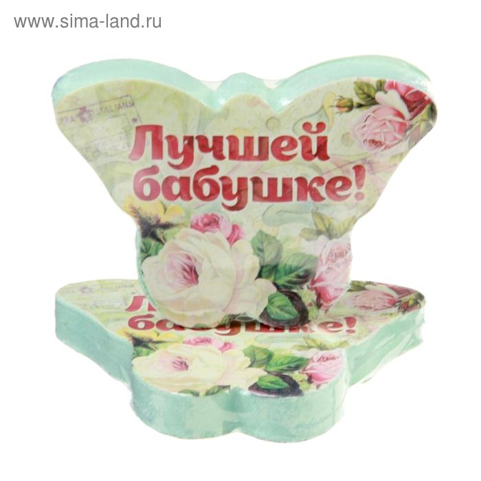 """Полотенце прессованное Collorista """"Лучшей бабушке"""", размер 26 х 50 см, цвет микс"""